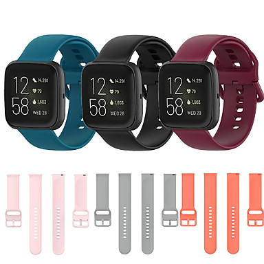 cheap Mobile Phone Accessories-Sport Silicone Watch Band for Fitbit Versa 2 / Versa lite / Versa Replaceable Bracelet Wrist Strap Wristband