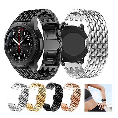 preiswerte Handy-Zubehör-Edelstahl Armband Armband für Galaxie Uhr 3 45mm / Uhr 46mm / Zahnrad s3 Metall Ersatz Armband Drachenwaage Armband Armband 22mm