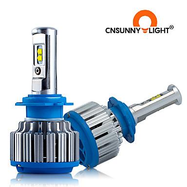 お買い得  カーライト-2pcscnsunnylight車のヘッドライトh7led h11 hb3 / 9005 hb4 / 9006 h1 h3 9012 40w8000lm自動電球ヘッドランプライト