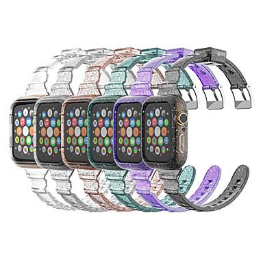 levne Příslušenství pro mobilní telefony-řemínek na hodinky pro Apple Watch Series 6 / SE / 5/4 44mm / Apple Watch Series 6 / SE / 5/4 40mm Apple Sport Band silikonový řemínek na zápěstí