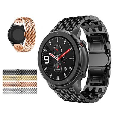 preiswerte Handy-Zubehör-Edelstahl Uhrenarmband für Huami Amazfit GTR 47mm / Stratos Smart Watch 2 / 2s / Amazfit Pace / Amazfit Stratos Metall Ersatz Uhrenarmband Armband Armband 22mm