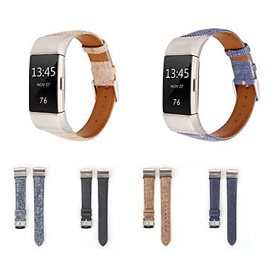 Недорогие Аксессуары для мобильных телефонов-Ремешок для часов для Fitbit заряд2 Fitbit Современная застежка Натуральная кожа Повязка на запястье