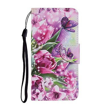cheap iPhone Cases-Case For iPhone 12 Pro Max Wallet Card Holder with Stand Full Body Cases Flower PU Leather iPhone 12 Mini SE 2020 11 Pro XR XS Max 7 8 Plus