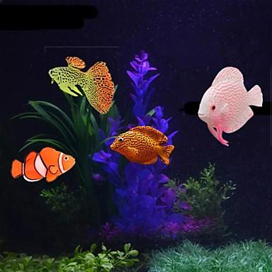 halpa Akvaario- ja kalatarvikkeet-Akvaario Akvaario Sisustus Pallomalja Keinotekoinen kala Sateenkaari Söpö Special Material 4 osainen 2 cm