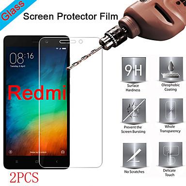 זול אביזרים לטלפונים ניידים-2 יחידות מגן מסך Xiaomi Xiaomi Redmi 10x Pro 5G / Redmi 9A / Redmi 8 / Redmi 7 / Redmi 6Pro / Redmi 5 Plus / Redmi 4Prime / Redmi 3S בחדות גבוהה (HD) מגן מסך קדמי זכוכית מחוסמת