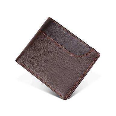 billige Rejsetasker-Rejsepung Dokumentarrangør Kortholder Anti-tyveri RFID-blokering Dagligdags Brug Sikkerhed ægte læder Klassisk Vintage Gave Til Herre Dame 10*11.5*1.5 cm