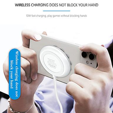 Недорогие Беспроводные зарядные устройства-qi беспроводное зарядное устройство присоска адсорбционное зарядное устройство играть в игру для iphone 11 xs x samsung s20 10w быстрая беспроводная зарядная панель mini