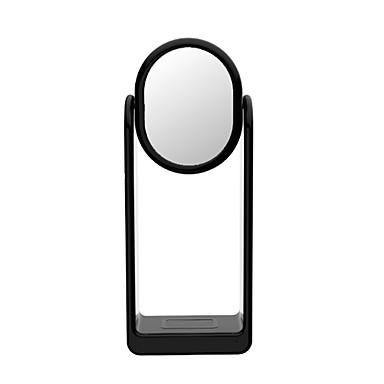 Недорогие Беспроводные зарядные устройства-беспроводное зарядное устройство с многофункциональной светодиодной настольной лампой smart touch зеркало для макияжа 360 вращение яркость 3000k быстрая зарядка