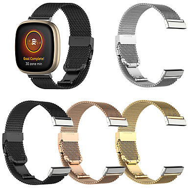 cheap Mobile Phone Accessories-Milanese Watchband For Fitbit Versa 3 / Fitbit Sense Smart Bracelet Wrist Band Metal Replaceable Watch Straps For Fitbit Versa 3 / Fitbit Sense