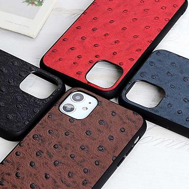 Недорогие Кейсы для iPhone-чехол для apple iphone 12 pro max iphone 12 mini iphone 11 pro max противоударный / откидной чехол для всего тела с рисунком страуса чехол из натуральной кожи для iphone xs max xr iphone se (2020)