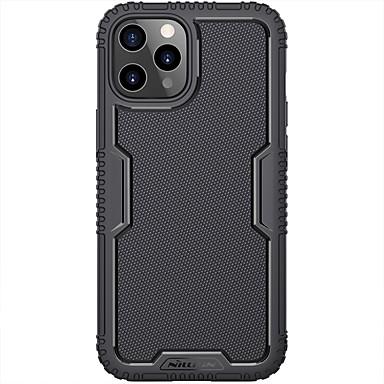 Недорогие Кейсы для iPhone-чехол nillkin для iphone 12 / iphone 12 pro max / iphone 12 pro / 12 mini противоударный / ультратонкие линии задней крышки / волны / однотонный силикагель / ПК / фирменная упаковка