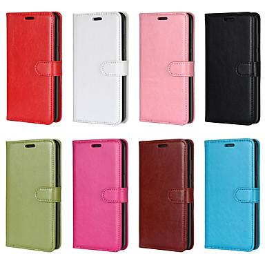 Недорогие Чехлы и кейсы для HTC-Кейс для Назначение HTC HTC U11 Life / HTC One M8 / HTC U12 life Кошелек / Бумажник для карт / Защита от удара Чехол Однотонный Кожа PU / ТПУ