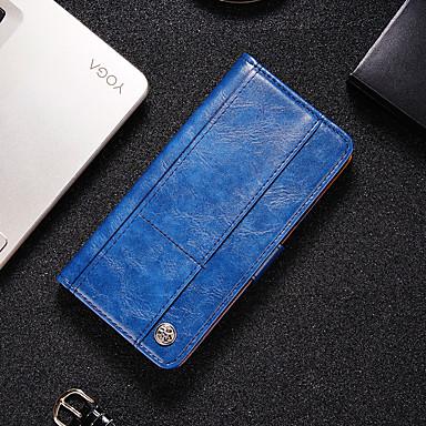 Недорогие Чехлы и чехлы-Кейс для Назначение Huawei Мате 30 / Mate 30 Pro / Mate 30 Lite Бумажник для карт / Флип / Магнитный Чехол Однотонный Кожа PU / ТПУ