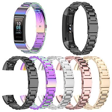 Недорогие Ремешки для часов Huawei-Сменный ремешок из нержавеющей стали наручные ремешки для часов для huawei band 4 pro / band 3 / band 3 pro сменный цветной браслет