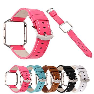 Недорогие Аксессуары для мобильных телефонов-Ремешок для часов для Fitbit Blaze Fitbit Современная застежка Стеганная ПУ кожа Повязка на запястье