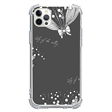 Недорогие Чехлы и чехлы-Растения случай За Apple iPhone 12 iPhone 12 Mini iPhone 12 Pro Max Уникальный дизайн Защита от удара Кейс на заднюю панель ТПУ