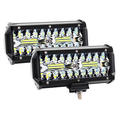 Недорогие Рабочее освещение авто-2шт 7inch led light bar 120w 12000lm offroad противотуманные фары дальнего света светодиодные стручки с пятном наводнения комбинированный луч водонепроницаемые светодиодные рабочие фары для utv atv