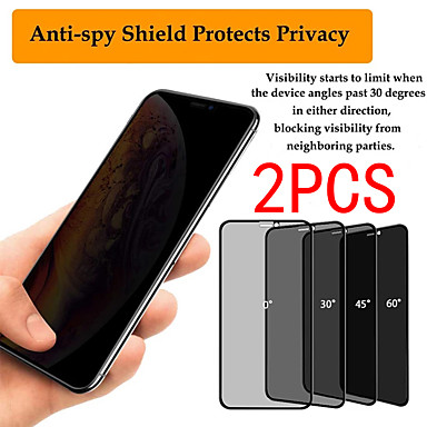 abordables Accesorios para teléfono móvil-2pcs xiaomi protector de pantalla xiaomi redmi note 9 pro / note 8 / note 7s / note 6 / note 5a / note 4x protector de pantalla frontal de alta definición (hd) pantalla de privacidad de vidrio