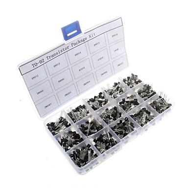 voordelige Arduino-accessoires-750-delige 15 waarden 2N2222-S9018 NPN PNP Power General Purpose Transistors Assortiment Kit