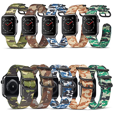 baratos Novidades-Pulseiras de Relógio para Apple Watch Series 6 / SE / 5/4 44 mm / Apple Watch Series 6 / SE / 5/4 40mm / Apple Watch Series 3/2/1 38 mm Apple Fecho Clássico Náilon Tira de Pulso