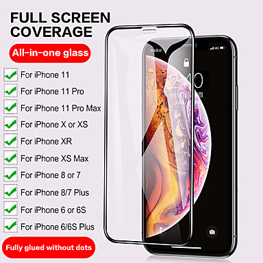 Недорогие Аксессуары для мобильных телефонов-Закаленное стекло с полным покрытием 3d для iphone 12 11 pro max 12 мини-защитные пленки для iphone 12 11 x xs max xr se 2020 8 7 6 plus 5 se протектор экрана с полным покрытием закаленное стекло