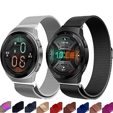 Недорогие Ремешки для часов Huawei-Ремешок для часов для Huawei Watch GT / Huawei Watch 2 / Watch 2 Pro Huawei Миланский ремешок Нержавеющая сталь Повязка на запястье