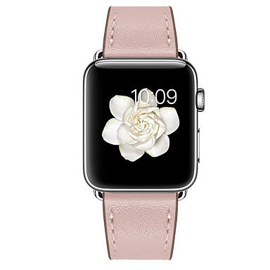 halpa Apple Watch-hihnat-Watch Band varten Apple Watch Series 6 / SE / 5/4 44mm / Apple Watch Series 6 / SE / 5/4 40 mm / Apple Watch -sarja 3/2/1 38 mm Apple Nahkahihna Aito nahka Rannehihna