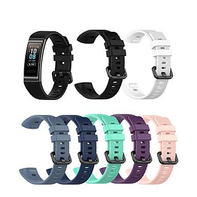 billige Klokkeremmer til Huawei-silikonrem smart armbånd tilbehør til huawei band 4 pro klokke håndleddsstropp for huawei band 3/3 pro sport urbånd