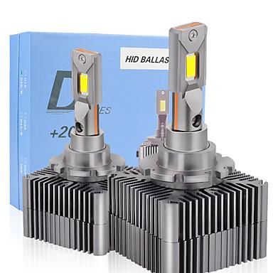 Недорогие Автомобильные фары-1 компл. D1s d2s d3s d4s d5s d8s лампа для автомобильных фар 20000lm 45w canbus без ошибок серии d фары 6000k белые авто светодиодные фары 12v