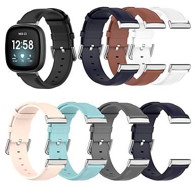 رخيصةأون إكسسوارات الهواتف المحمولة-ل fitbit versa 3 حزام ساعة ذكية حزام جلد طبيعي لاستشعار Fitbit / Versa3 سوار ساعة معصم ملحقات ساعة