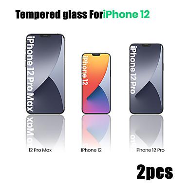 ieftine Folii de Protecție Ecran-2 buc sticlă securizată pentru iphone 12 11 pro max 12 mini filme de protecție pentru iphone 12 11 x xs max xr se 2020 8 7 6 plus 5 se protecție completă ecran ecran sticlă securizată