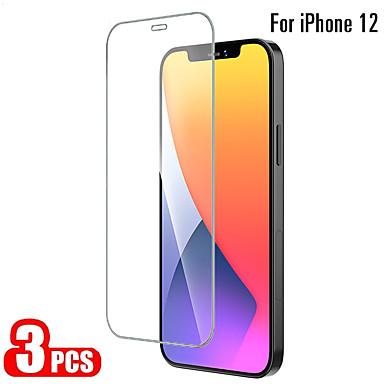 Недорогие Аксессуары для мобильных телефонов-3 шт. Закаленное стекло для iphone 12 11 pro max 12 мини-защитные пленки для iphone 12 11 x xs max xr se 2020 8 7 6 plus 5 se полная защита экрана закаленное стекло