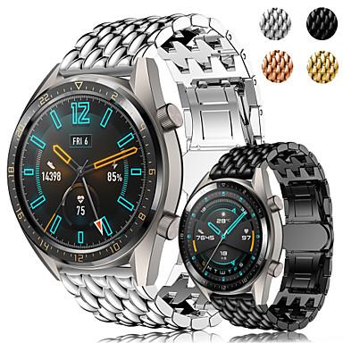 preiswerte Handy-Zubehör-Edelstahl Armband Armband für Huawei Uhr GT GT2 Metall Ersatz Armband Drachenwaage Armband Armband 22mm