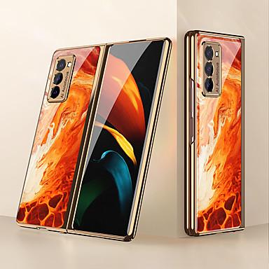 Недорогие Чехол Samsung-Кейс для Назначение SSamsung Galaxy Galaxy Z Fold 2 Защита от удара / Защита от пыли Кейс на заднюю панель Полосы / волосы / Мрамор ПК