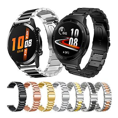 Недорогие Ремешки для часов Huawei-ремешок для часов из нержавеющей стали для часов huawei gt 2e / gt2 46 мм / gt2 42 мм / magic watch 2 46 мм 42 мм / gt active / honor magic / watch 2 / watch 2 pro сменный браслет ремешок на запястье