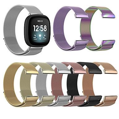 povoljno Nova kolekcija-Pogledajte Band za Fitbit Versa 3 / Fitbit Sense Fitbit Preklopna metalna narukvica Nehrđajući čelik Traka za ruku