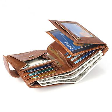 povoljno Putne torbe-Putni novčanik Organizator dokumenata Utor za kartice Protiv krađe RFID blokiranje Uporaba Zaštita prava koža Klasika Vintage Poklon Za Muškarci Žene 13*10*2 cm