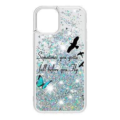 cheap iPhone Cases-Case For Apple iPhone 12 / iPhone 12 Mini / iPhone 12 Pro Max Flowing Liquid / Pattern / Glitter Shine Back Cover Animal TPU