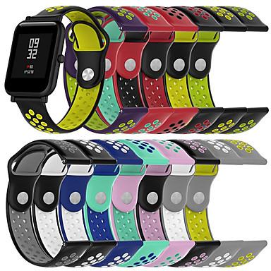 baratos Acessórios Para Celular-Pulseiras de Relógio para Amazfit GTR 42mm / Amazfit Bip / Amazfit GTS Amazfit Pulseira Esportiva Silicone Tira de Pulso