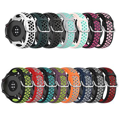 Недорогие Ремешки для часов Huawei-Силиконовый ремешок 22 мм для huawei gt 1 / 2e / gt2 46 мм / honor magic watch 2 46 мм спортивный браслет