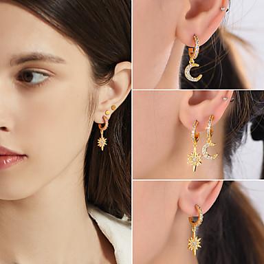 Moon and Star Drop Dangle Earrings Women Party Jewelry LA