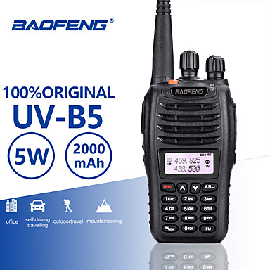 Baofeng UV-B5 UHF/VHF 400-480/136-174MHz Dual Band FM Two Way Radio Walkie Talkie Transceiver Interphone