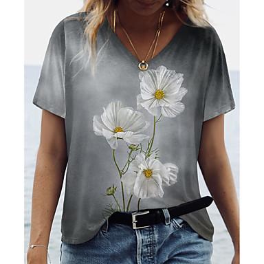 New European Women/'s Floral Flower Print Top Shirt Trendy Blouse Size 8 10 S M