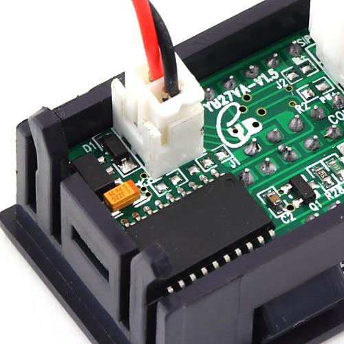 Mini Voltmeter 24-30V Blue - Micro Robotics