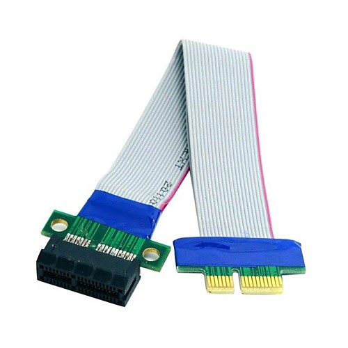 New PCI-E Extension 1x Slot Riser Extender Ribbon Express Card Adapter Cable