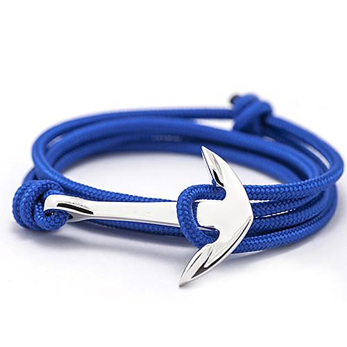 Men's Women's Charm Bracelet Friendship Bracelet Wrap Bracelet Friends Anchor Ladies Basic Fashion Paracord Bracelet Jewelry Gray / Red / Blue For Daily Casual