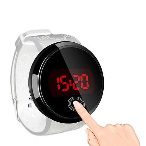 a8a4d341ee Men's Wrist Watch Digital Watch Digital Silicone Black Water Resistant /  Waterproof Touch Screen Creative Digital Simple watch - Black Black / White  ...