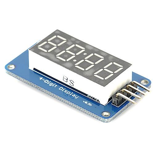 Multiplexed 4 digit 7 segment display mit Arduino