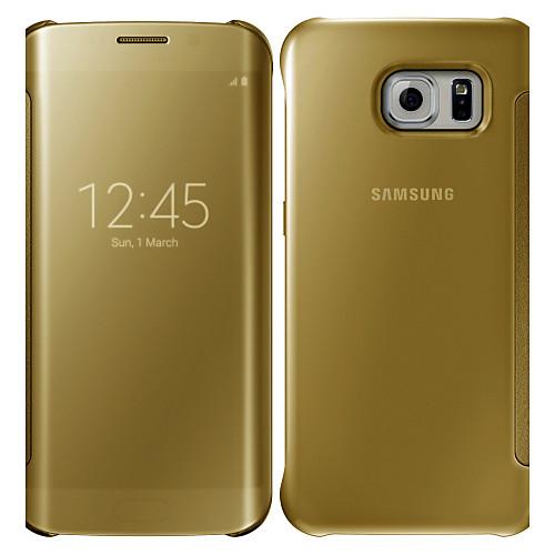 Case For Samsung Galaxy S6 edge plus / S6 edge / S6 Mirror / Flip Full Body Cases Solid Colored PC
