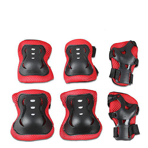 Protective Gear / Knee Pads Elbow Pads Wrist Pads for Ice Skating / Skateboarding / Inline Skates Scratch Proof / Anti-Friction / Shockproof 6 pack Outdoor clothing PVC(PolyVinyl Chloride)